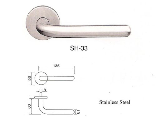 SH-33 Stainless Steel Lever Lockset