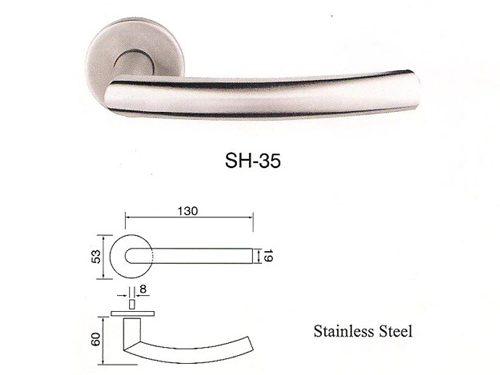 SH-35 Stainless Steel Lever Lockset
