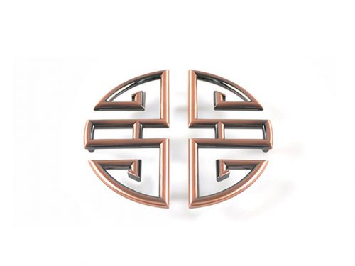 Bronze Oriental Handle 278