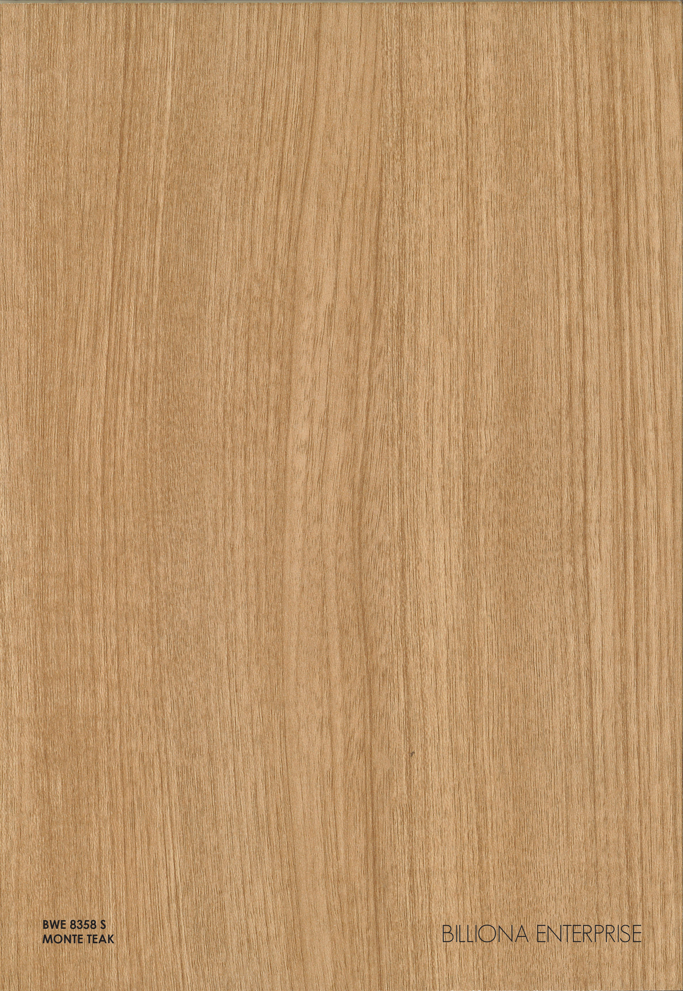 BWE 8358 S - Monte Teak High Pressure Laminate (HPL), Billiona Enterprise Singapore