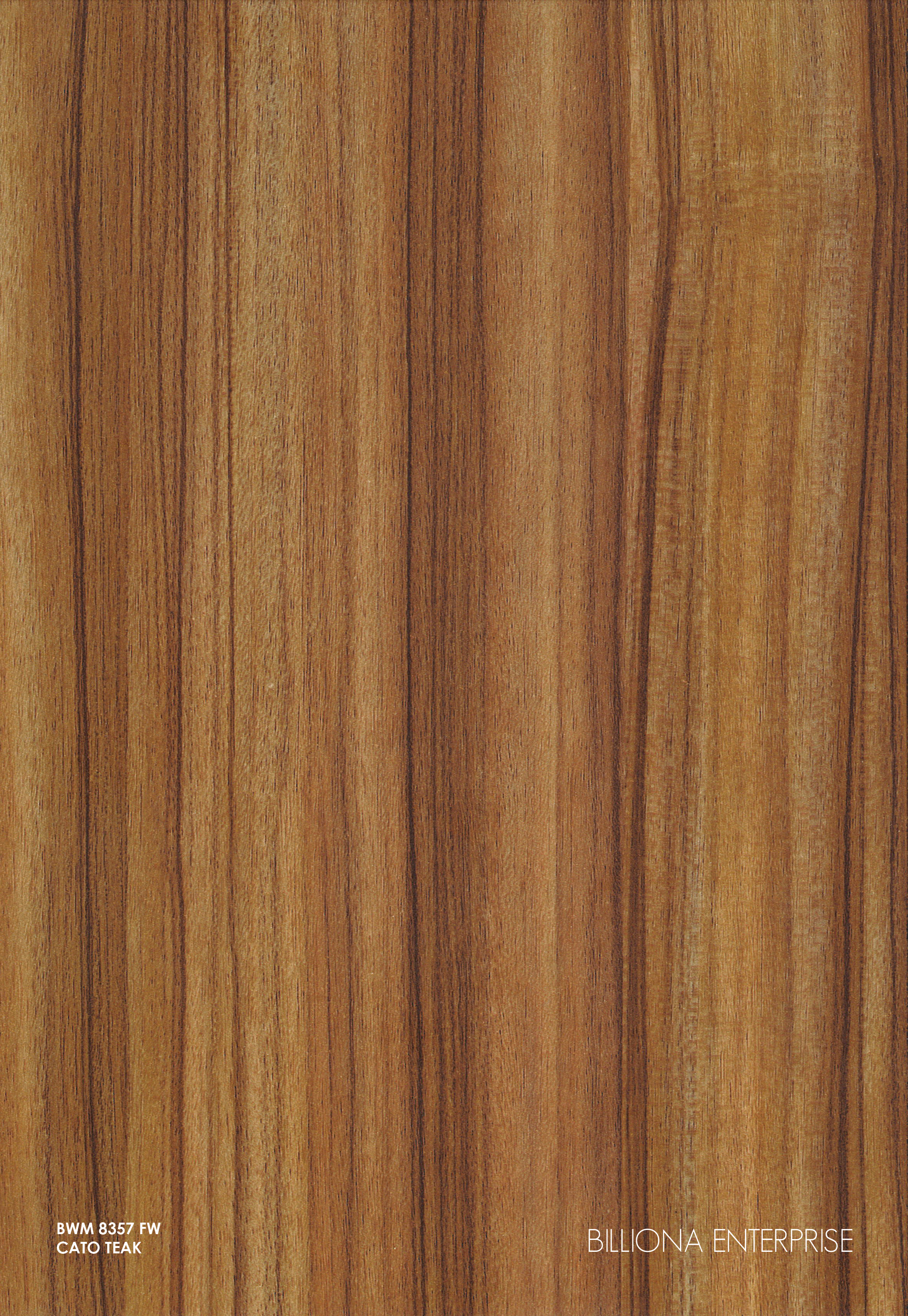 BWM 8357 FW - Cato Teak High Pressure Laminate (HPL), Billiona Enterprise Singapore