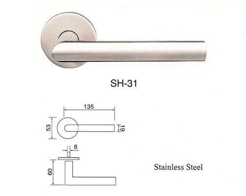 SH-31 Stainless Steel Lever Lockset