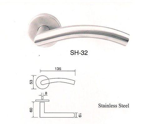 SH-32 Stainless Steel Lever Lockset