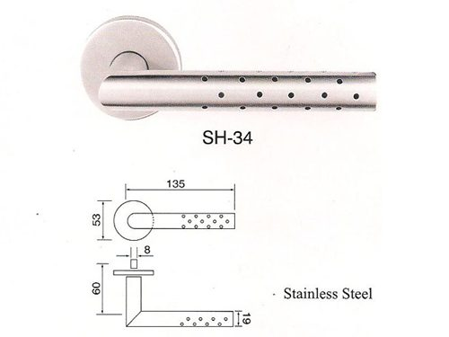 SH-34 Stainless Steel Lever Lockset
