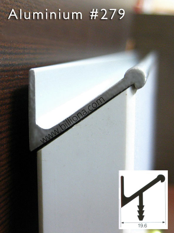 Aluminium Profile Handle #279 for cabinetry