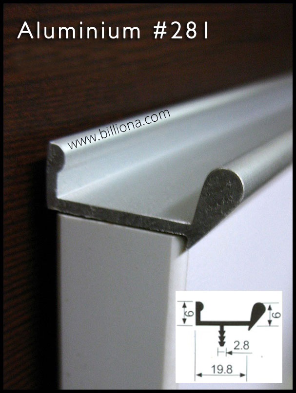 Aluminium Profile Handle #281 for cabinetry