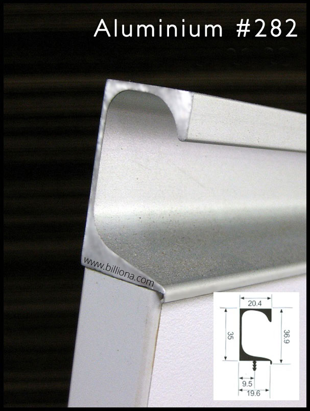 Aluminium Profile Handle #282 for cabinetry