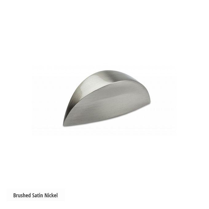 Semi Round Knob Handle Brushed Satin Nickel