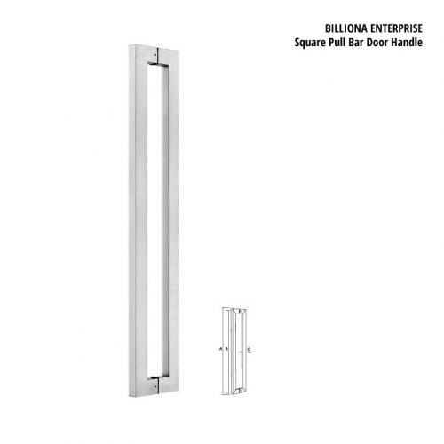 Square Pull Bar Door Handle