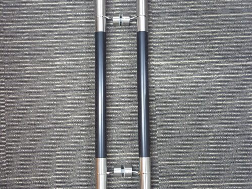 Stainless Steel w Wood Pull Bar Handle